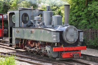 Brigadelok 0-8-0T from the North Gloucestershire Railway