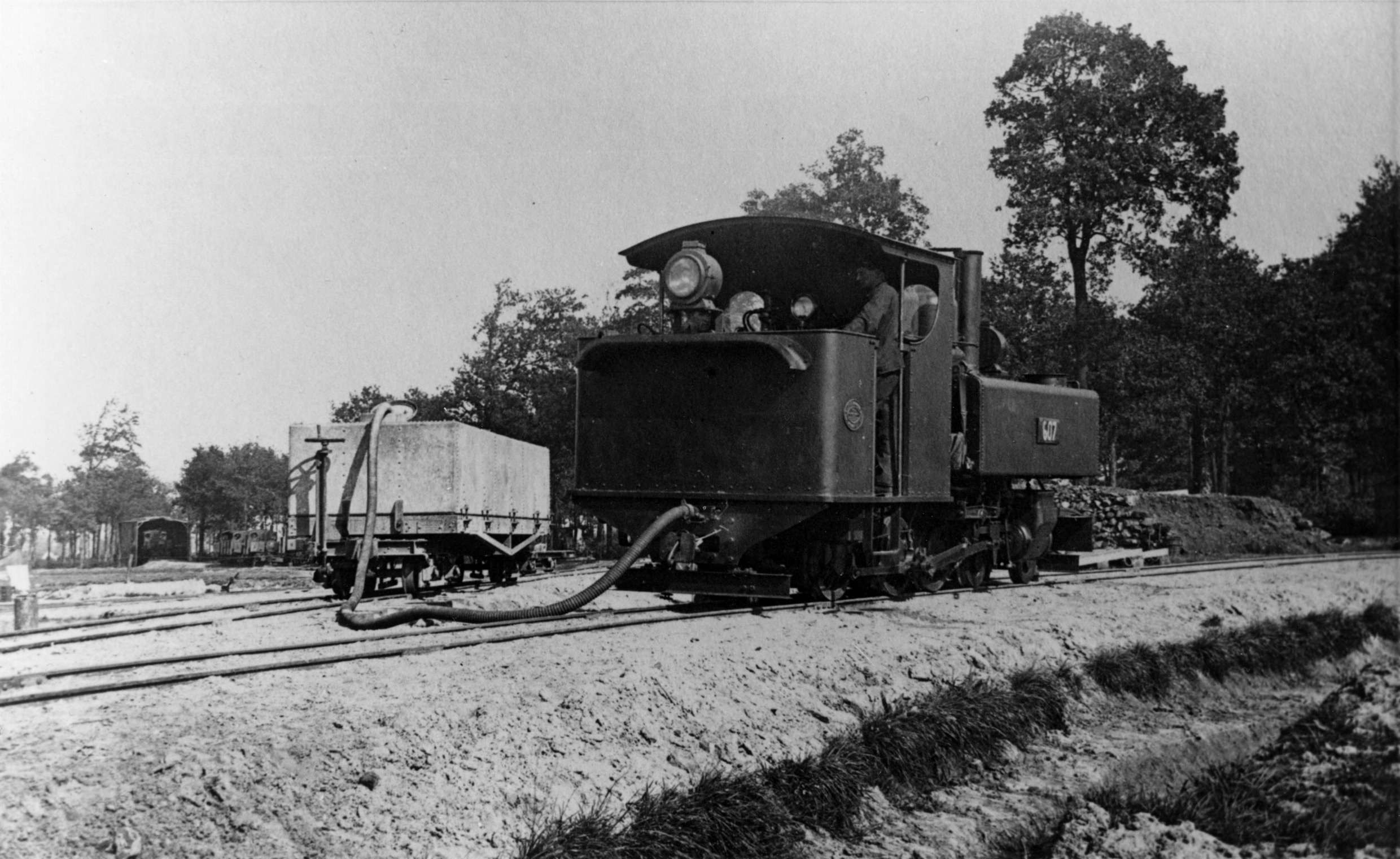 Baldwin and Class H watertank - a photograph to be replicated in 2014!