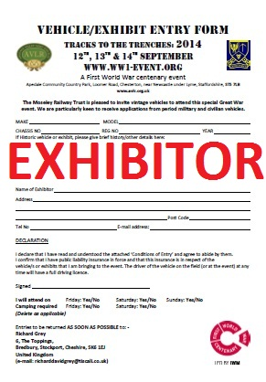 Vehicle & Exhibit Entry Form – click to download