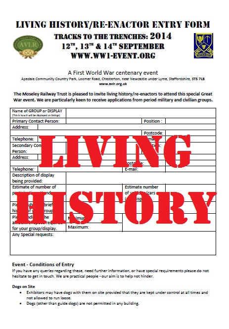 Living History Entry Form – click to download