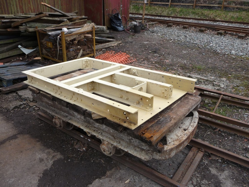 WDLR Bogie project - This frame arrived at Apedale from Alston with the Ambulance van in November 2010.
