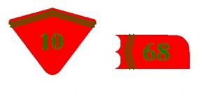 Tunic collar insignia.